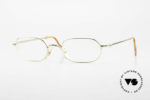 Cartier Orfy 90's Luxury Eyeglasses Square Details