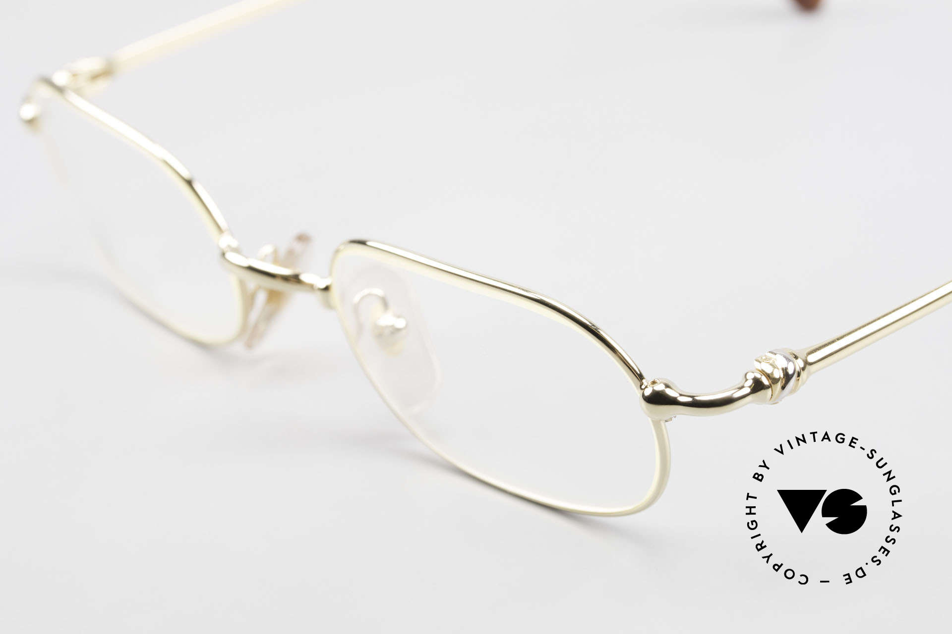 Cartier Orfy 90's Luxury Eyeglasses Square, precious 22ct gold-plated in size 50-21, 140: timeless, Made for Men and Women