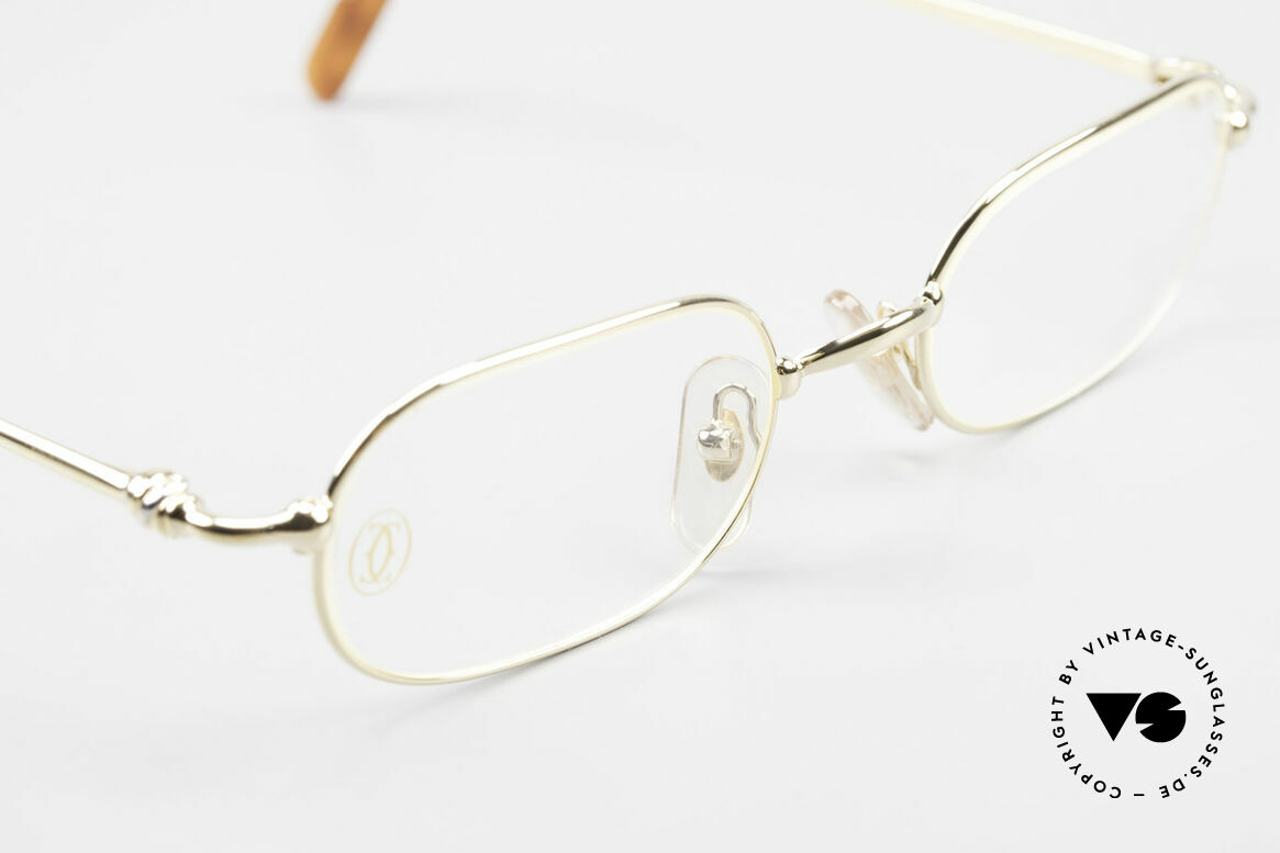 Cartier Orfy 90's Luxury Eyeglasses Square, unworn rarity incl. orig. Cartier packing (case, cloth), Made for Men and Women