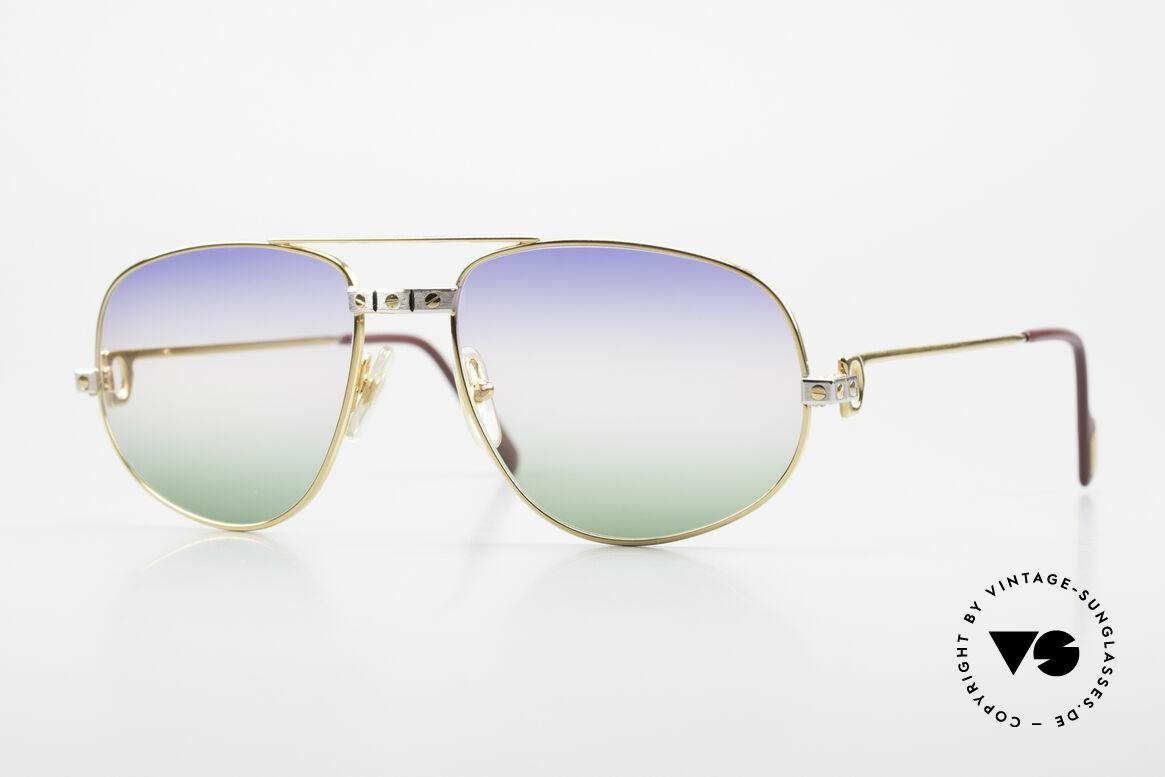 Cartier Romance Santos - L 80s Luxury Vintage Sunglasses, vintage Cartier sunglasses; model ROMANCE Louis Cartier, Made for Men
