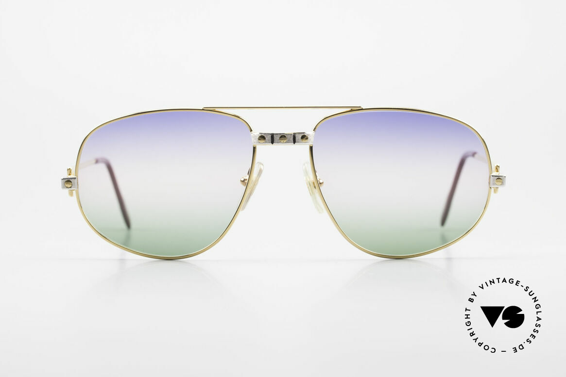"""Cartier Romance Santos - L 80s Luxury Vintage Sunglasses, mod. """"Romance"""" was launched in 1986 and made till 1997, Made for Men"""