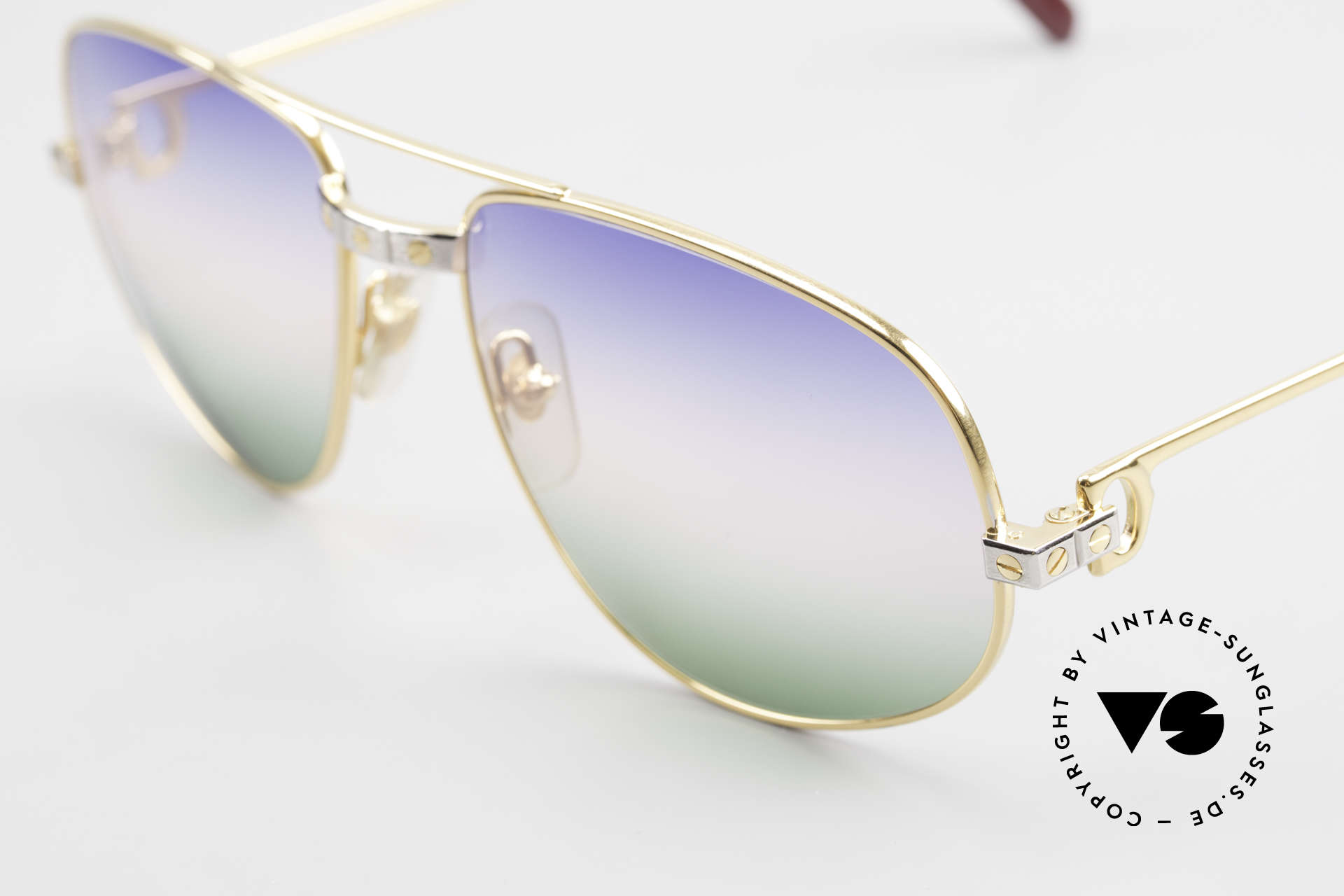 Cartier Romance Santos - L 80s Luxury Vintage Sunglasses, 22ct gold-plated frame (like all vintage Cartier originals), Made for Men