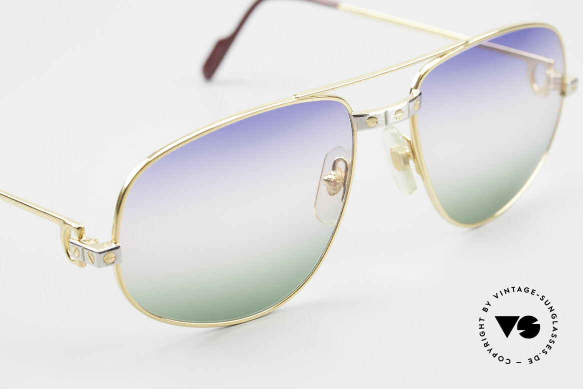 Cartier Romance Santos - L 80s Luxury Vintage Sunglasses, 2nd hand model, but in mint condition (incl. GUCCI case), Made for Men