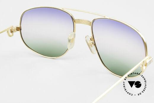Cartier Romance Santos - L 80s Luxury Vintage Sunglasses, with new triple-gradient sun lenses (100% UV protection), Made for Men