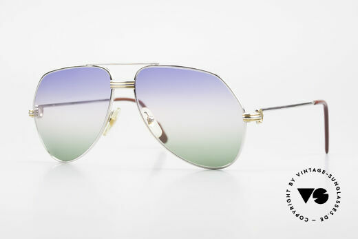 Cartier Vendome LC - M Platinum 80's Shades Aviator Details