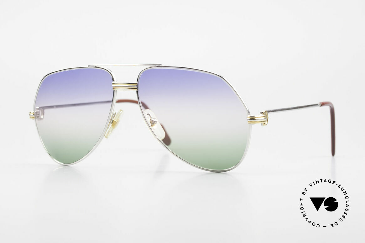 Cartier Vendome LC - M Platinum 80's Shades Aviator, Vendome = the most famous eyewear design by CARTIER, Made for Men