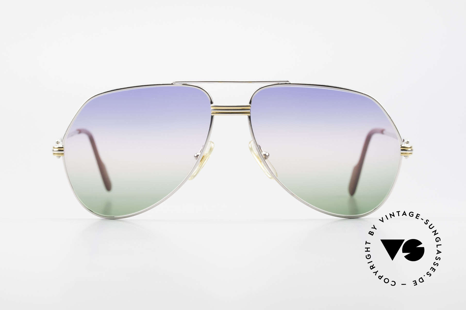 "Cartier Vendome LC - M Platinum 80's Shades Aviator, mod. ""Vendome"" was launched in 1983 & made till 1997, Made for Men"