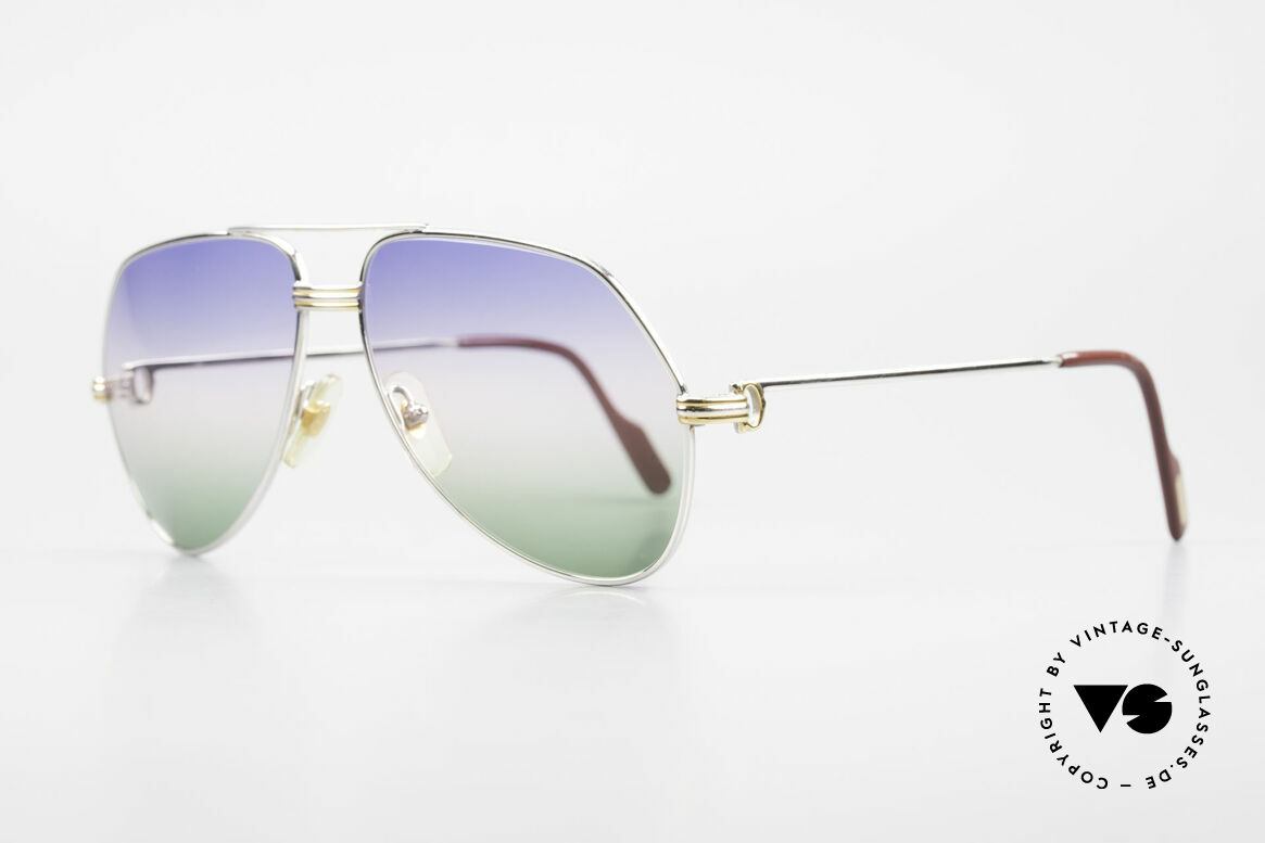 Cartier Vendome LC - M Platinum 80's Shades Aviator, this pair (with L.Cartier decor): MEDIUM size 59-14,140, Made for Men