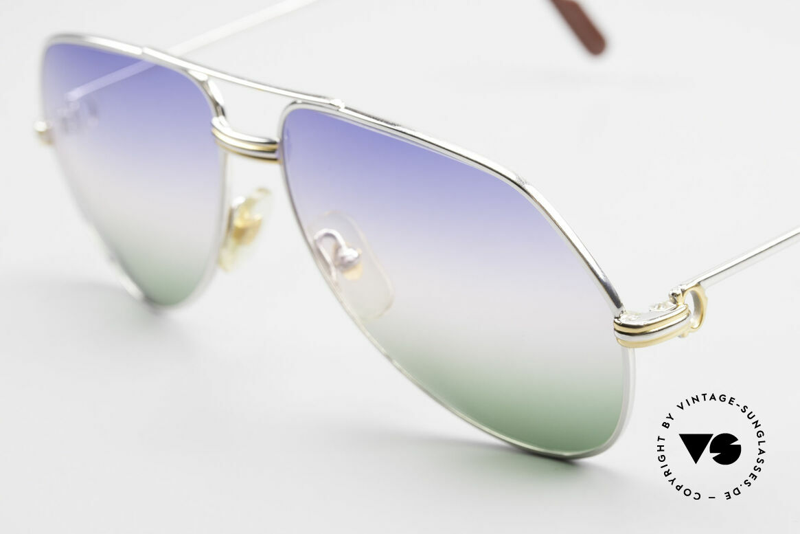Cartier Vendome LC - M Platinum 80's Shades Aviator, rare & expensive edition with platinum finish; LUXURY!, Made for Men