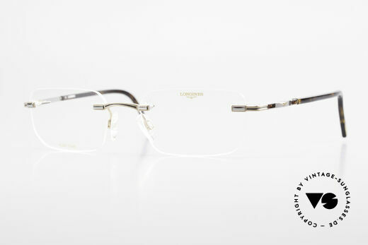 Longines 4238 90's Rimless Glasses Pure Titan Details