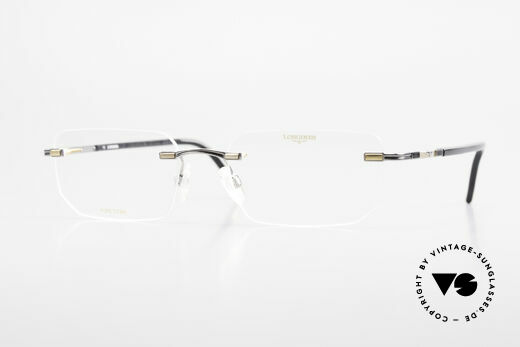 Longines 4238 Rimless 90's Eyeglasses Men Details