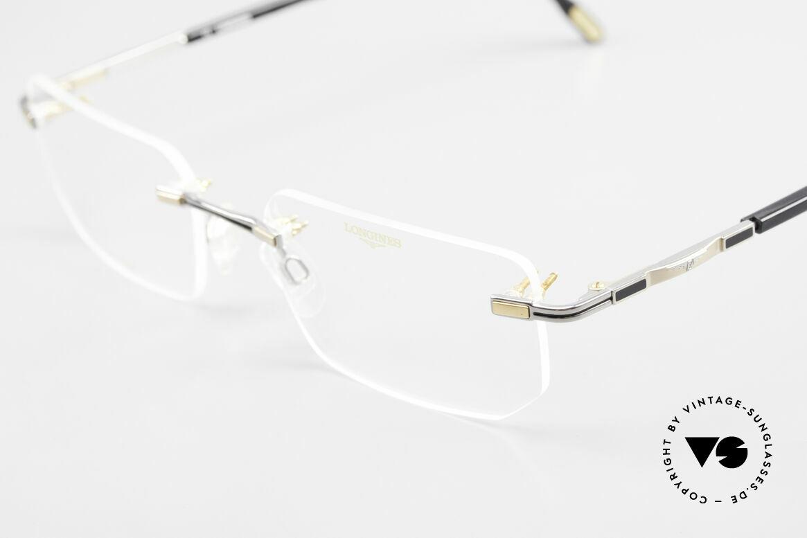 Longines 4238 Rimless 90's Eyeglasses Men, never worn (like all our 90's rimless eyeglass-frames), Made for Men