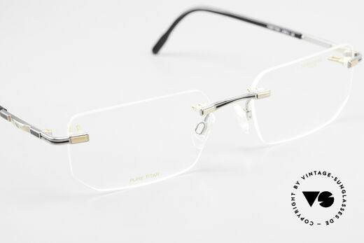 Longines 4238 Rimless 90's Eyeglasses Men, the DEMO lenses can be replaced with prescriptions, Made for Men