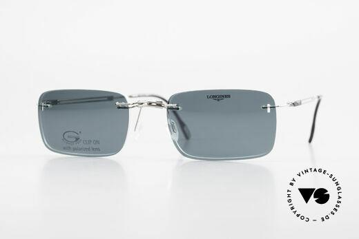 Longines 4367 Rimless Specs Polarized Clip Details