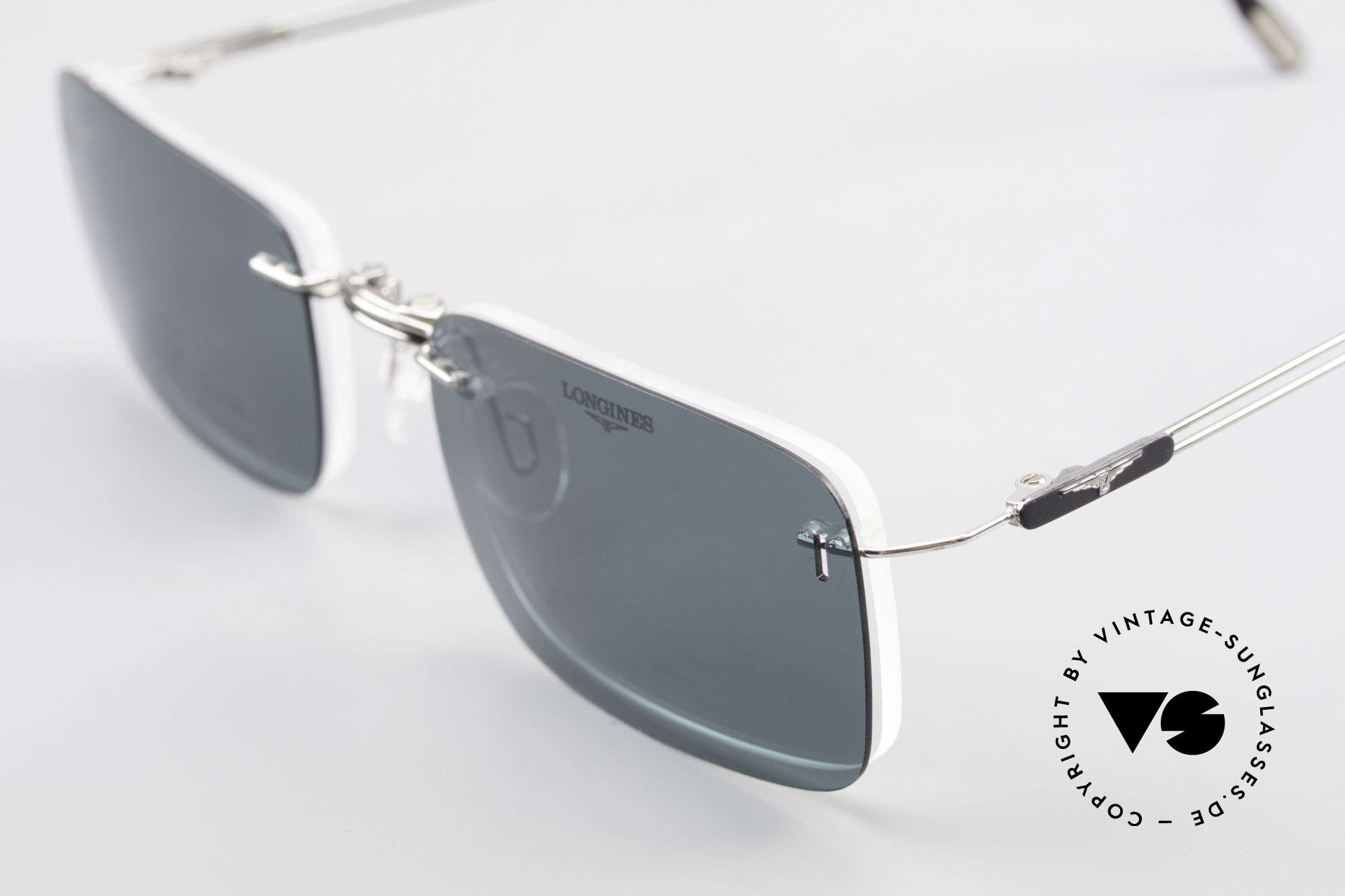 Longines 4367 Rimless Specs Polarized Clip, Size: large, Made for Men