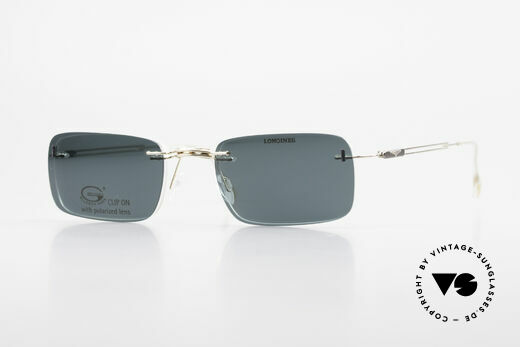 Longines 4367 Polarized Glasses Rimless 90s Details