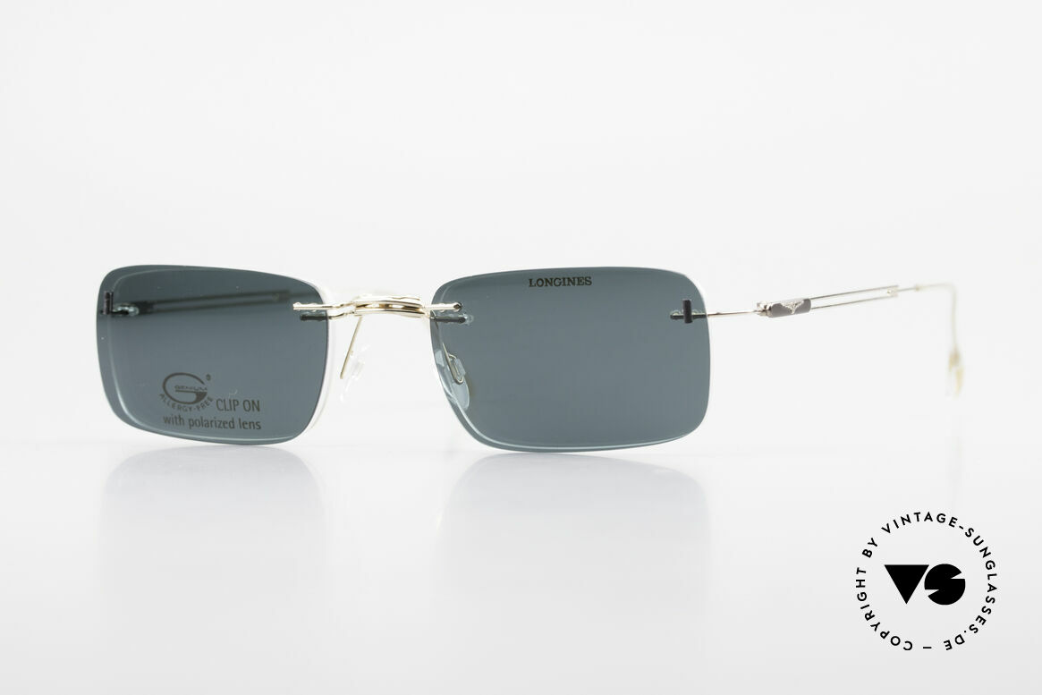 Longines 4367 Polarized Glasses Rimless 90s, 90's Longines model 4367 color 130, size 50-21, 135, Made for Men