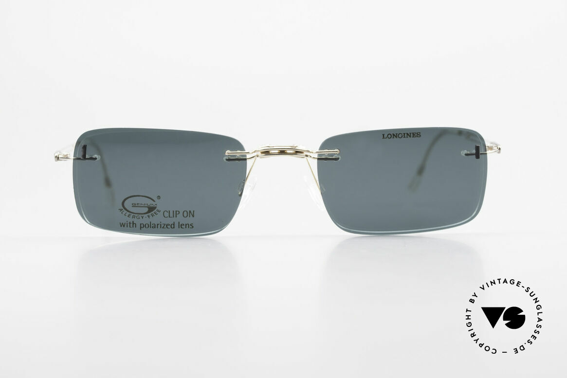 Longines 4367 Polarized Glasses Rimless 90s, allergy-free, rimless 90's eyeglass-frame by Longines, Made for Men