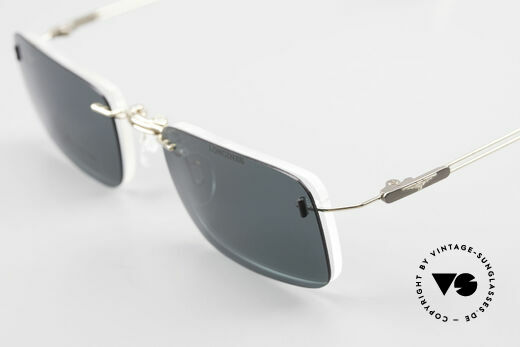 Longines 4367 Polarized Glasses Rimless 90s, the frame can be glazed with optical lenses of any kind, Made for Men
