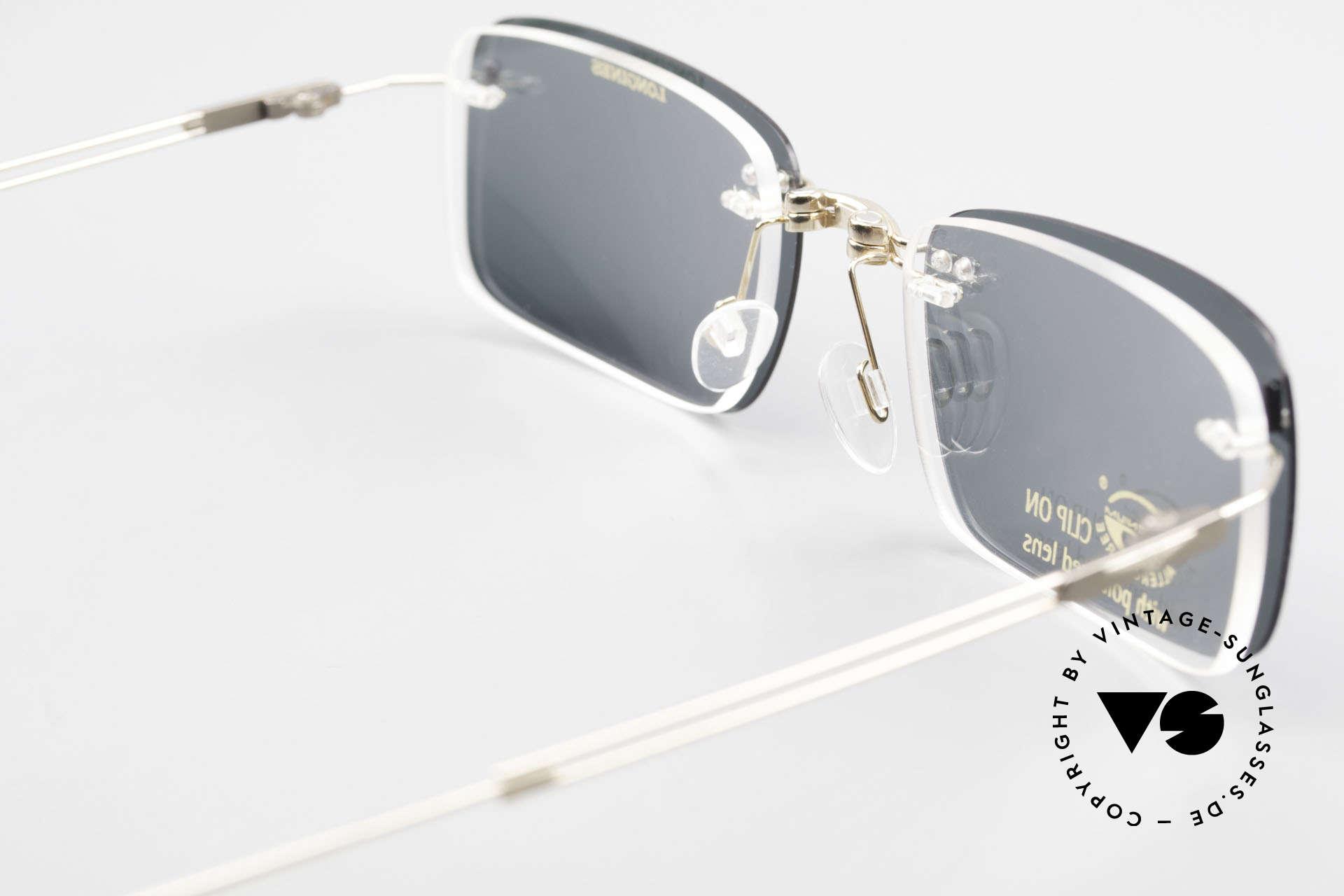 Longines 4367 Polarized Glasses Rimless 90s, Size: medium, Made for Men