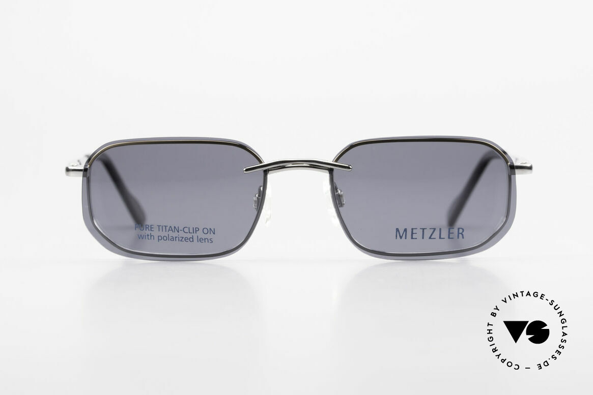 Metzler 1716 Titanium Frame Polarized Clip, leightweight titan frame with flexible spring hinges, Made for Men