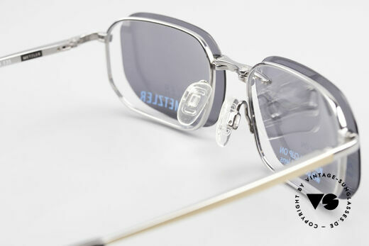 Metzler 1716 Titanium Frame Polarized Clip, the frame can be glazed with optical lenses of any kind, Made for Men