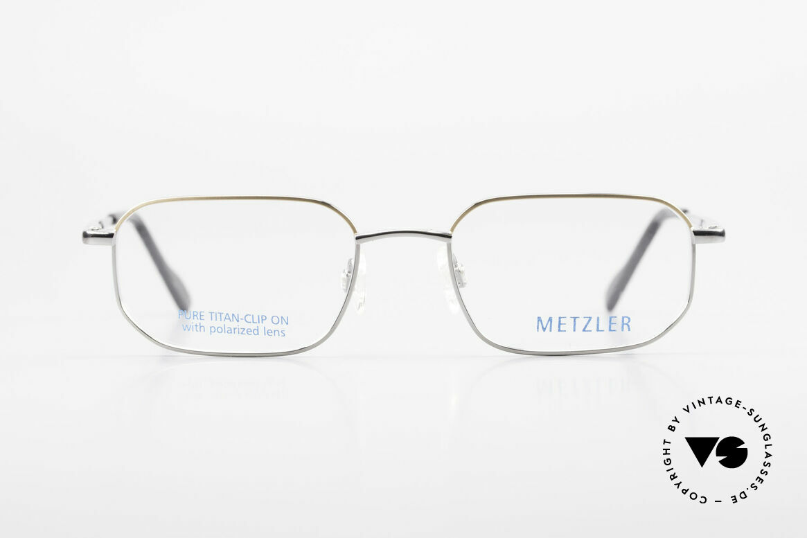 Metzler 1716 Titanium Frame Polarized Clip, Size: medium, Made for Men