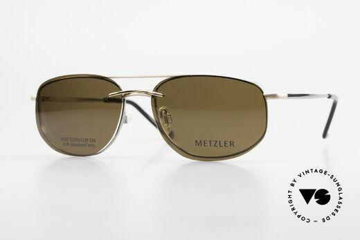 Metzler 1715 Titanium Specs Polarized Clip Details