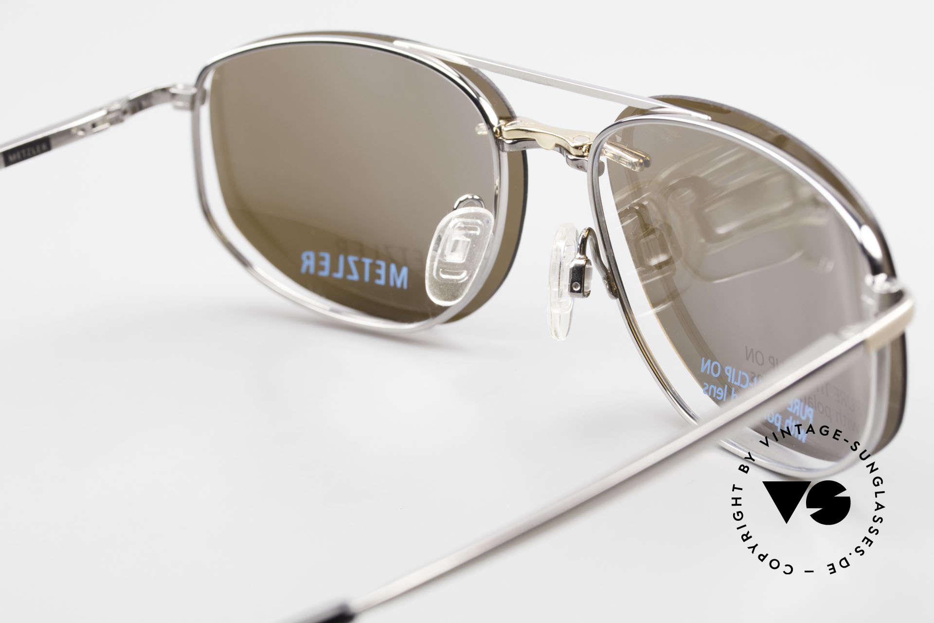Metzler 1715 Titanium Specs Polarized Clip, the frame can be glazed with optical lenses of any kind, Made for Men