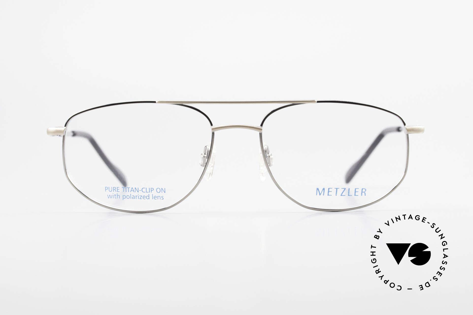 Metzler 1715 Titanium Specs Polarized Clip, Size: large, Made for Men