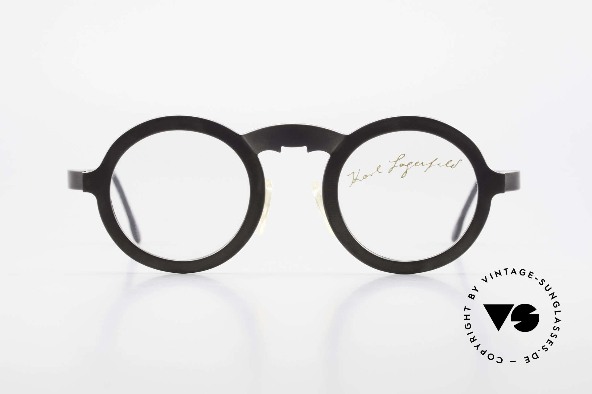 Karl Lagerfeld 4501 Round Panto Designer Frame, RARE limited edition - straight from the 1980's, Made for Men and Women