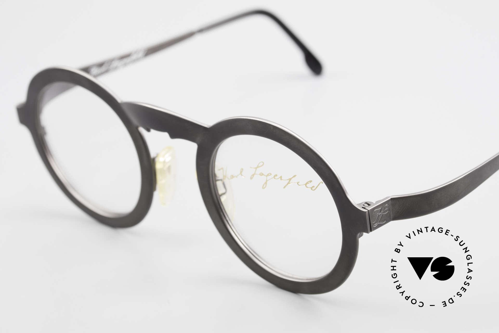 Karl Lagerfeld 4501 Round Panto Designer Frame, distinctive frame design (due to the nose bridge), Made for Men and Women