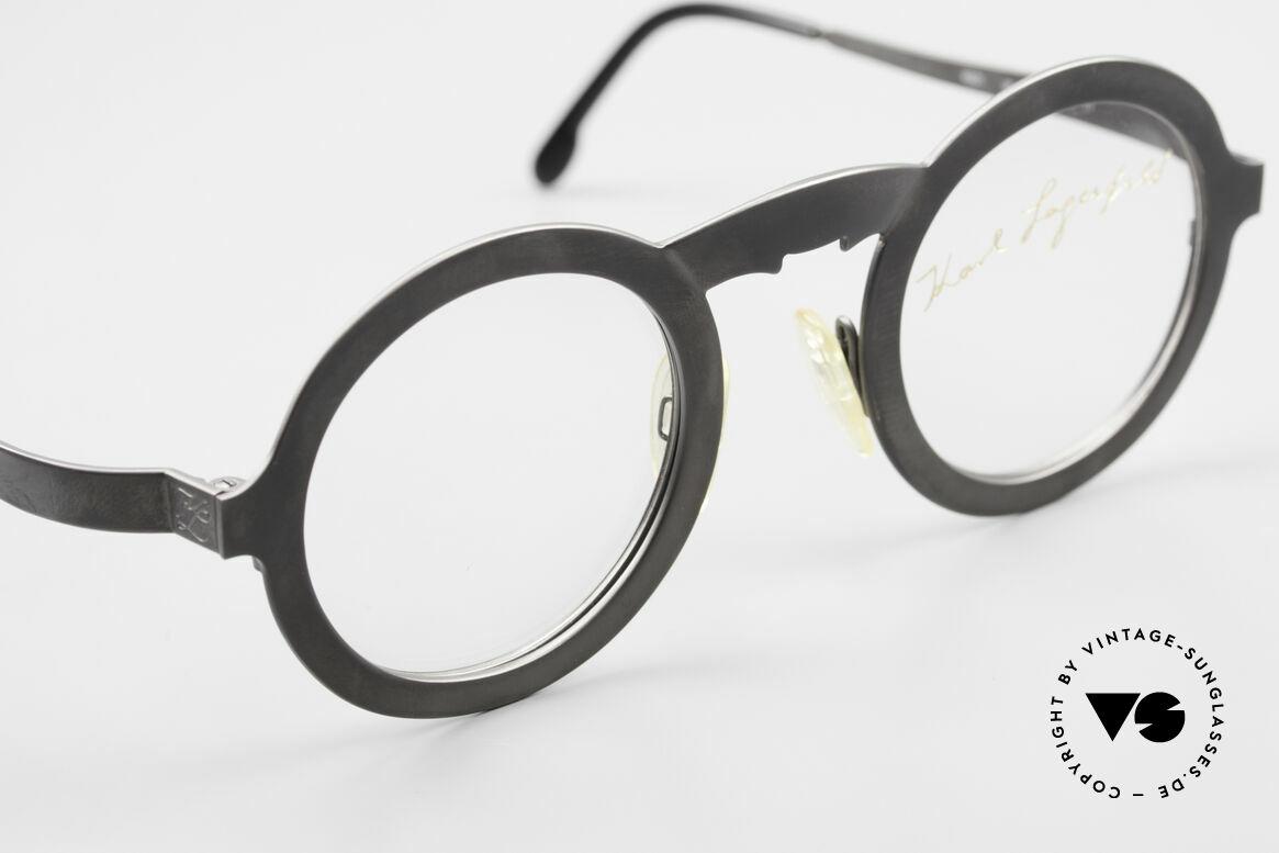 Karl Lagerfeld 4501 Round Panto Designer Frame, never worn (like all our rare vintage 80's frames), Made for Men and Women