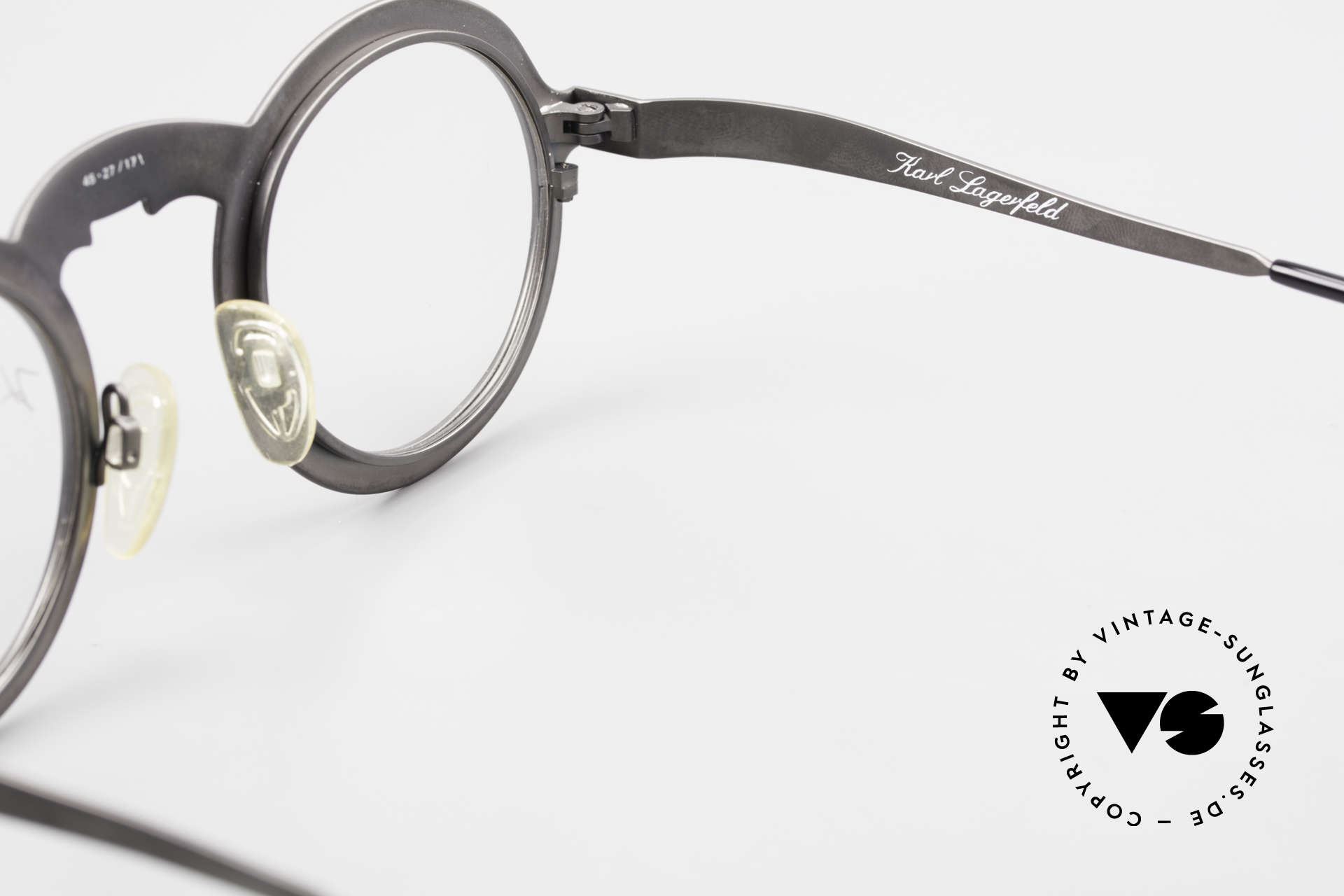 Karl Lagerfeld 4501 Round Panto Designer Frame, NO RETRO fashion, but an old unique ORIGINAL, Made for Men and Women