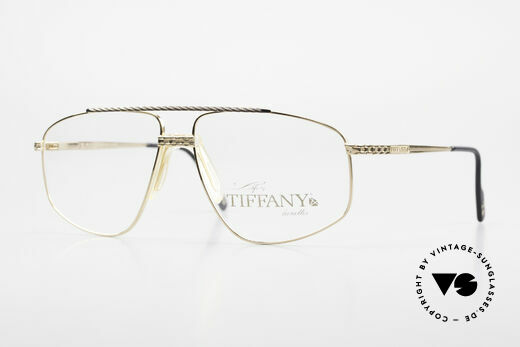 Tiffany T89 23kt Gold Plated Aviator Frame Details