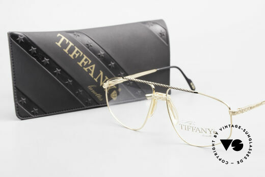 Tiffany T89 23kt Gold Plated Aviator Frame, Size: large, Made for Men