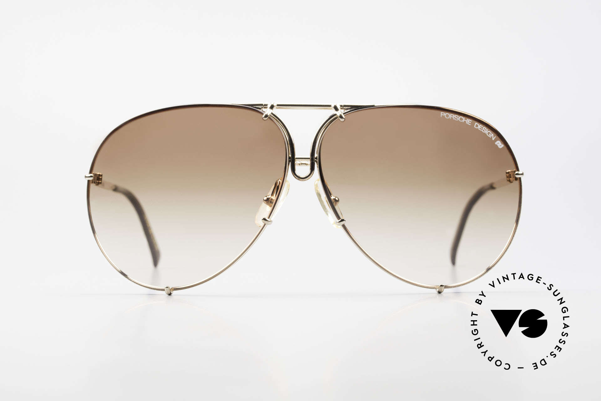 Porsche 5623 Black Mass Movie Sunglasses, gold & brown-gradient lenses = most wanted version!, Made for Men and Women