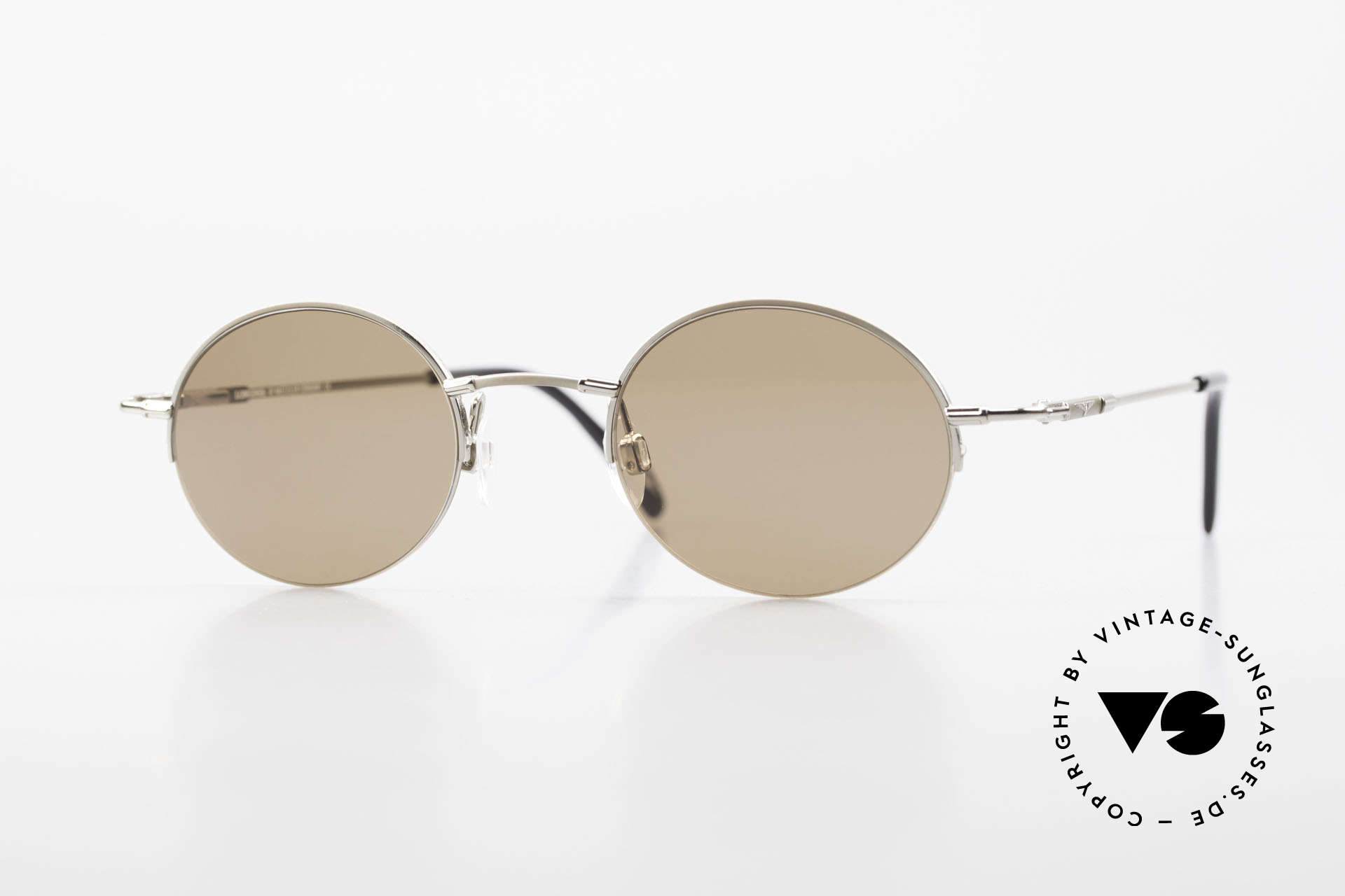 Longines 4363 Oval Sunglasses 90's Round, round oval Longines sunglasses from the late 1990's, Made for Men and Women