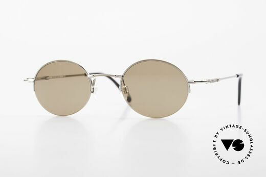Longines 4363 Oval Sunglasses 90's Round Details