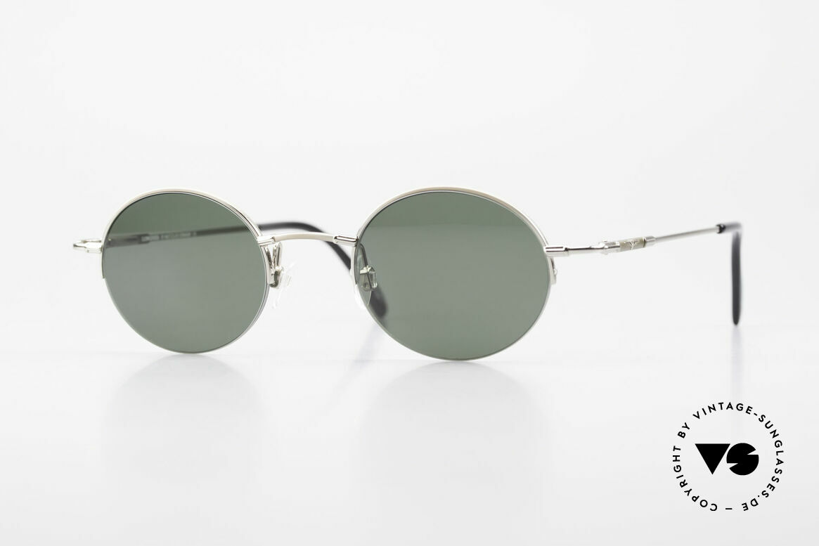 Longines 4363 Round Oval Sunglasses 90's, round oval Longines sunglasses from the late 1990's, Made for Men and Women