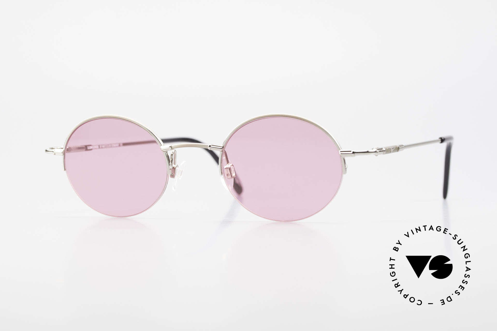 Longines 4363 Pink Sunglasses Oval Round, round oval Longines sunglasses from the late 1990's, Made for Men and Women