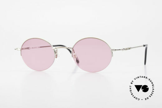 Longines 4363 Pink Sunglasses Oval Round Details
