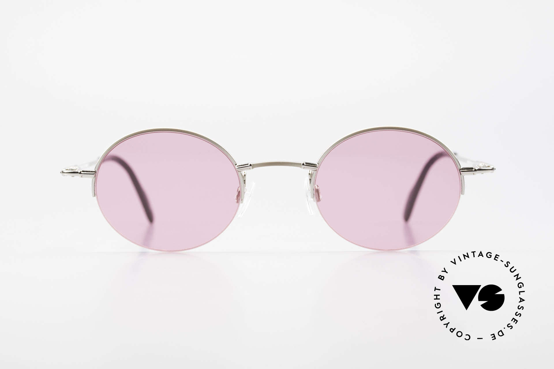 Longines 4363 Pink Sunglasses Oval Round, quality frame (half rim) with small design features, Made for Men and Women