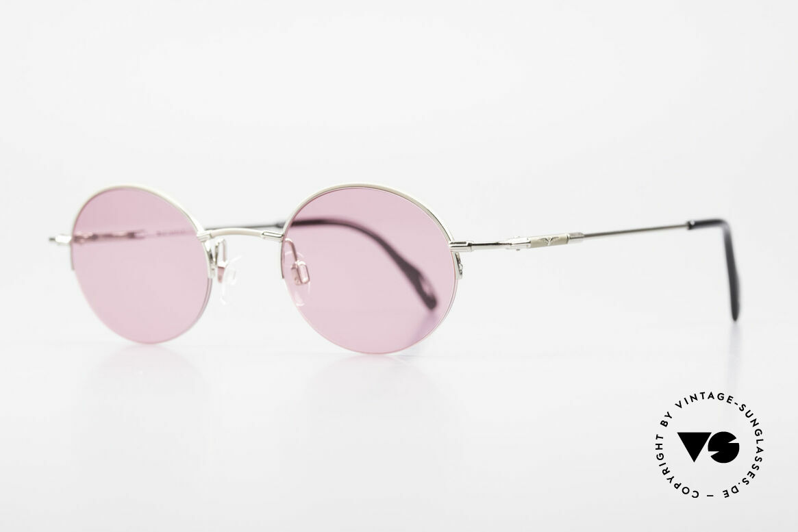 Longines 4363 Pink Sunglasses Oval Round, Longines logo, the winged hourglass, on the temples, Made for Men and Women