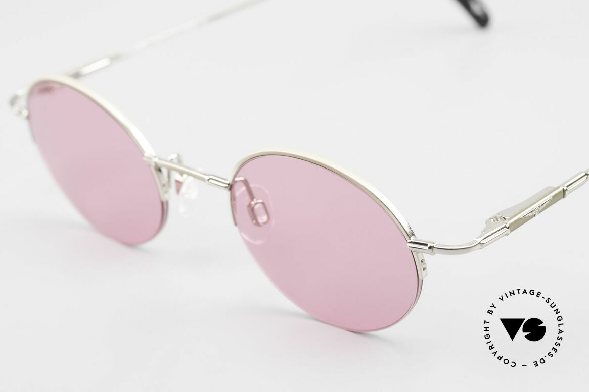 Longines 4363 Pink Sunglasses Oval Round, a timeless old ORIGINAL in cooperation with Metzler, Made for Men and Women