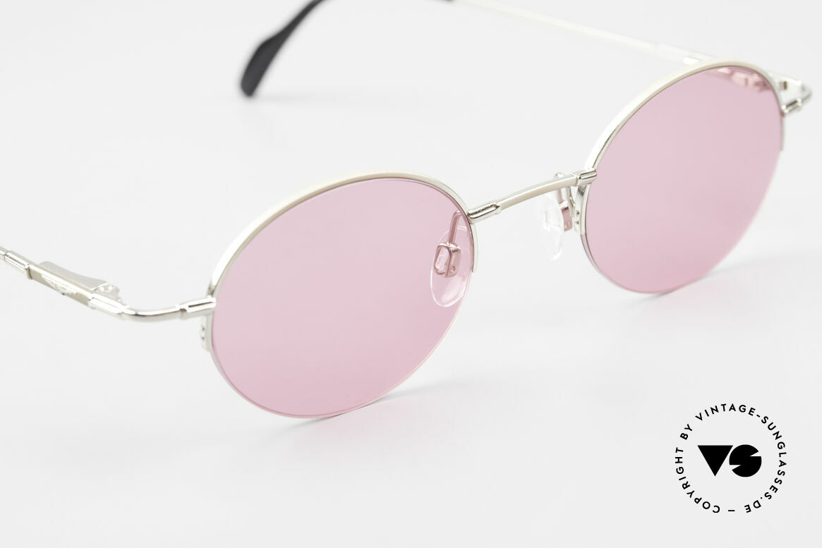 Longines 4363 Pink Sunglasses Oval Round, never worn (like all our oval round 90's sunglasses), Made for Men and Women