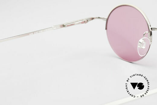 Longines 4363 Pink Sunglasses Oval Round, sun lenses (100% UV) could be replaced with opticals, Made for Men and Women