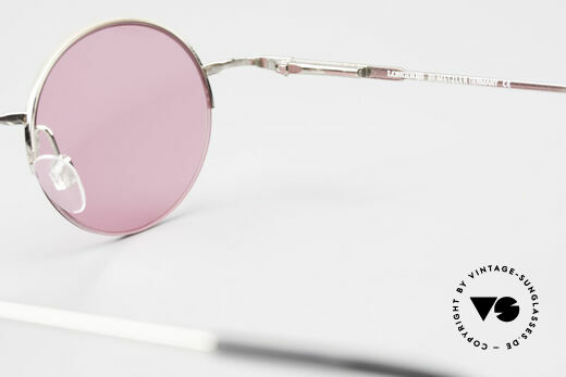 Longines 4363 Pink Sunglasses Oval Round, Size: medium, Made for Men and Women