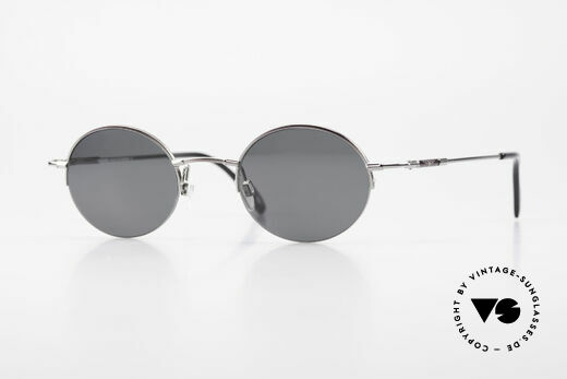 Longines 4363 90's Sunglasses Round Oval Details