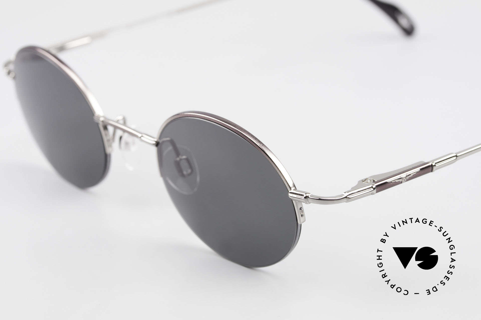 Longines 4363 90's Sunglasses Round Oval, a timeless old ORIGINAL in cooperation with Metzler, Made for Men and Women